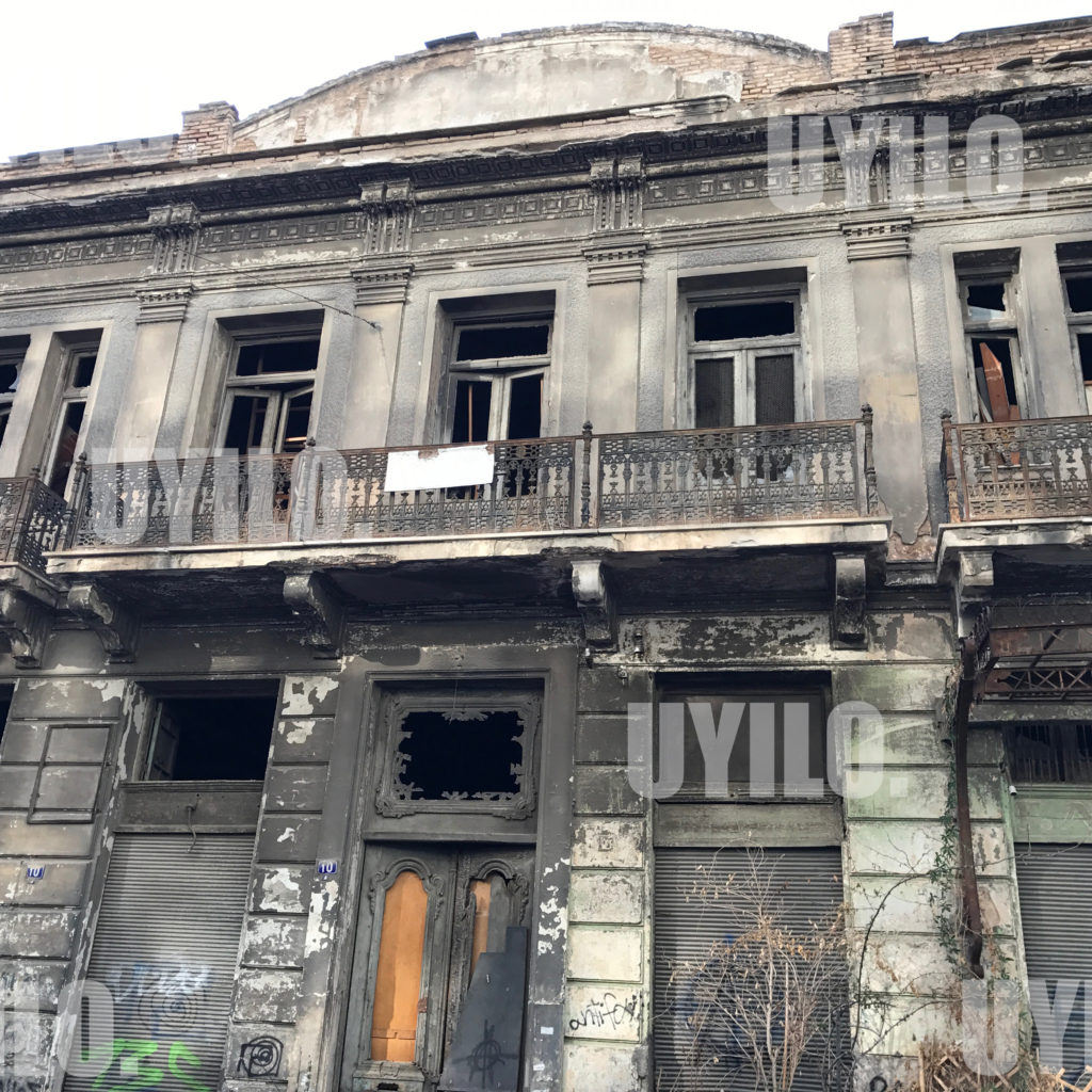Burned And Abandoned Building In Athens