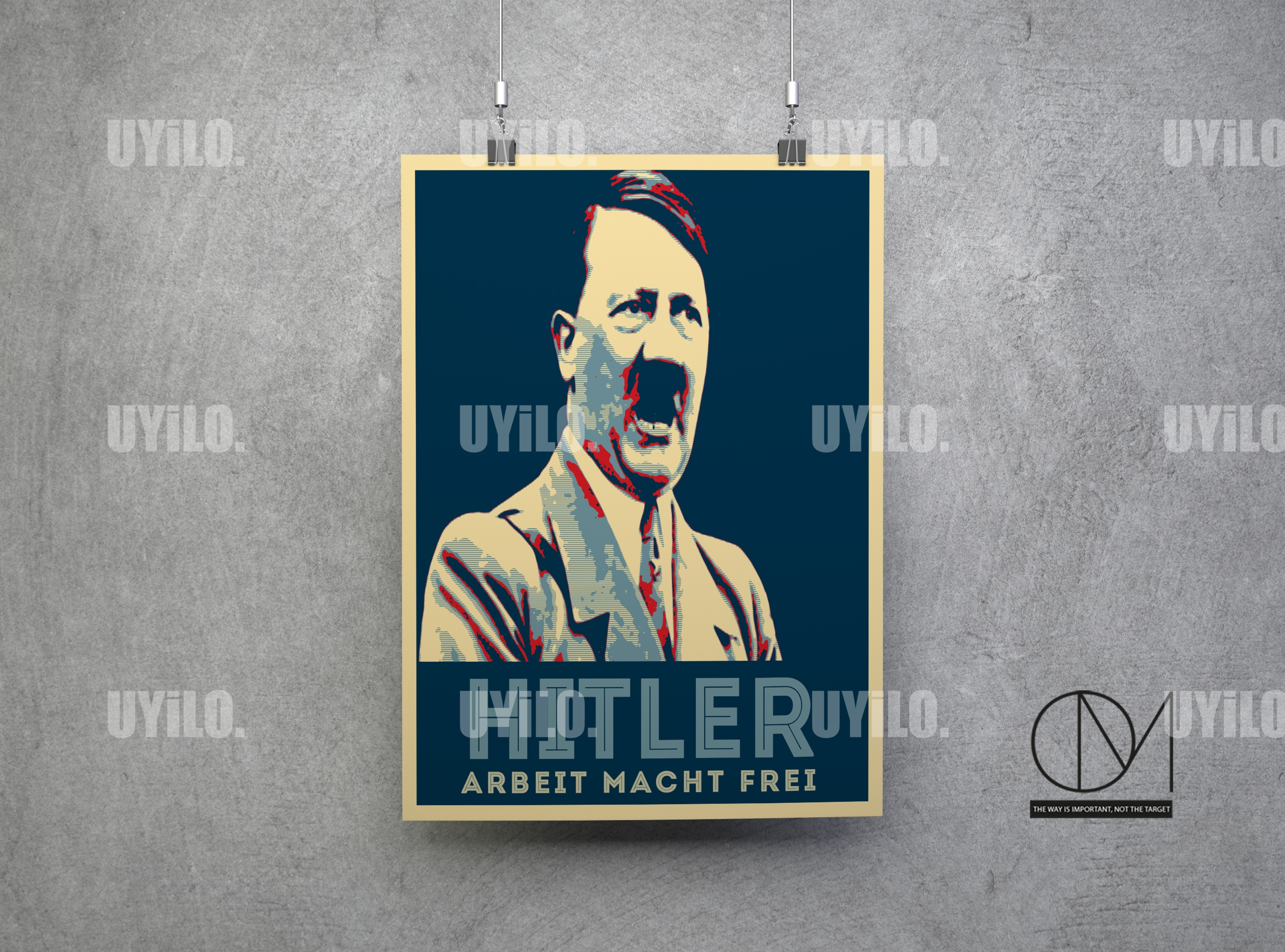 adolf hitler in the style of the iconic barack obama hope
