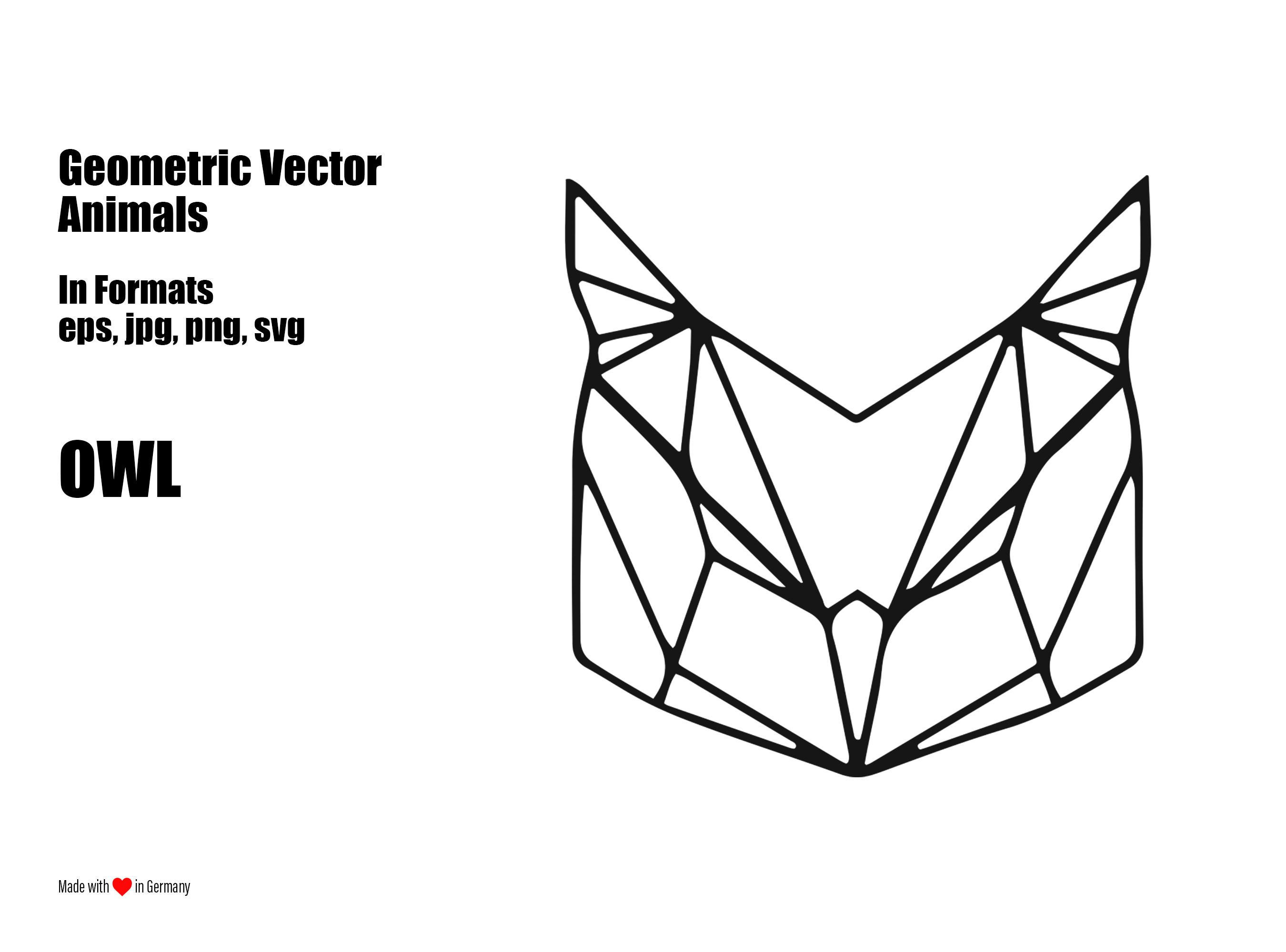 "Geometric Vector Animals ""Owl"" 