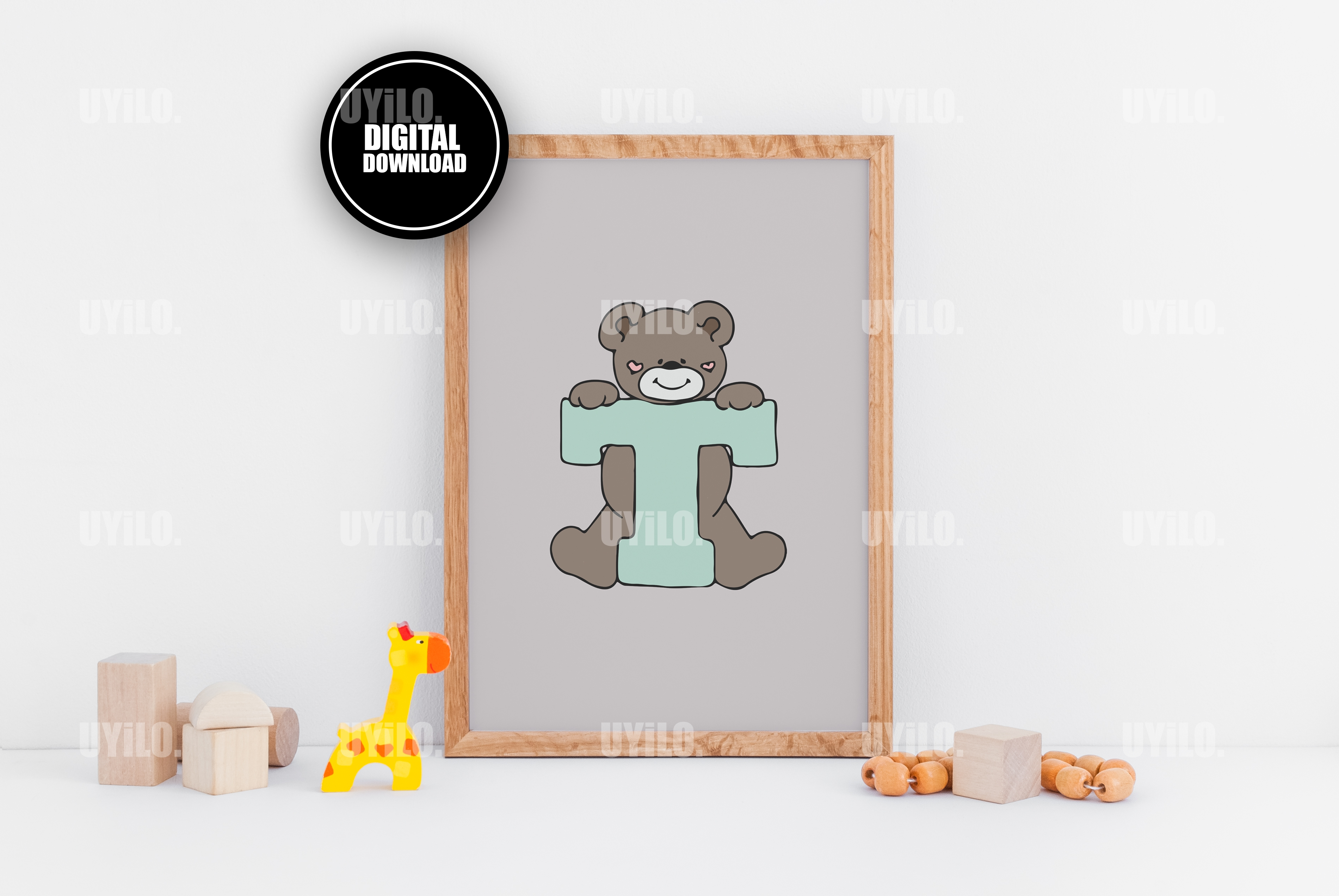 photograph regarding Letter T Printable named Undergo with the letter T, Alphabet Print, Letter T Monogram Printable, Nursery Decor Wall Artwork, Kid Monogram, Posted Poster, Small children Print, Wall