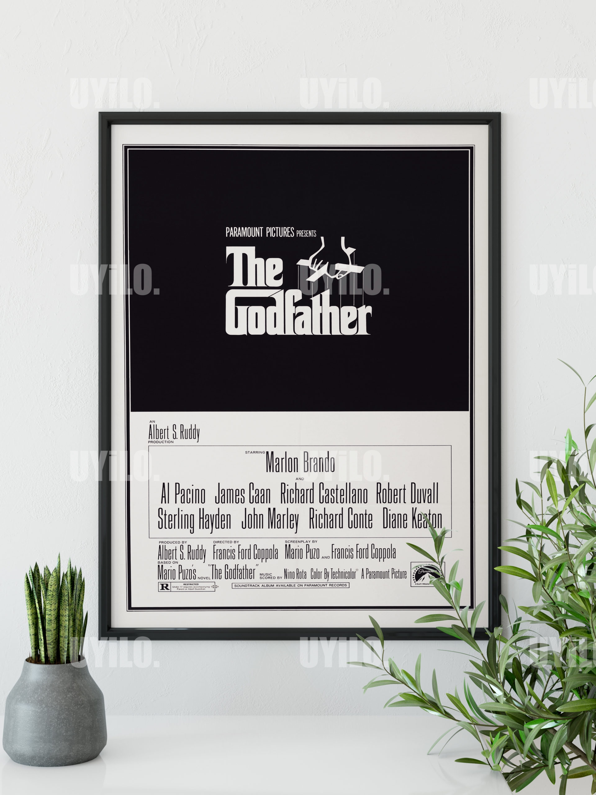 1972 The Godfather Movie Poster Art Fabric HD Printed Wall Decor Multi Sizes