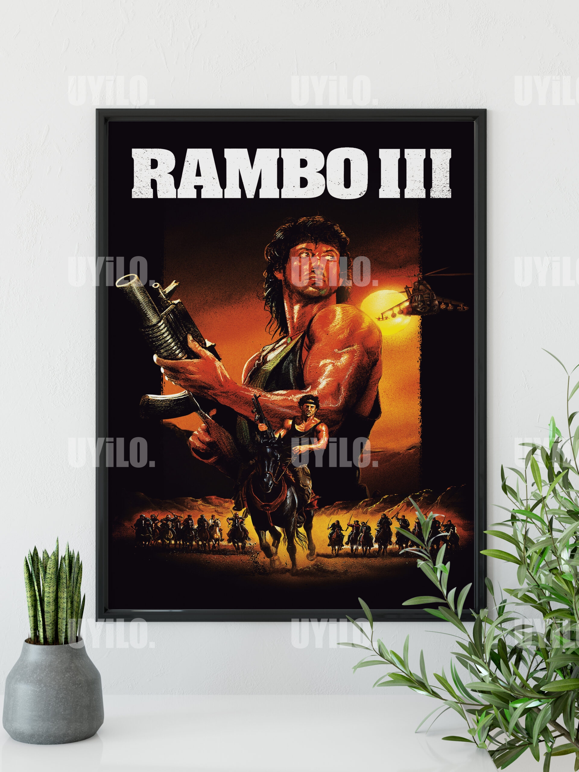 Rambo Iii 1988 Poster Sylvester Stallone Movie Poster Print