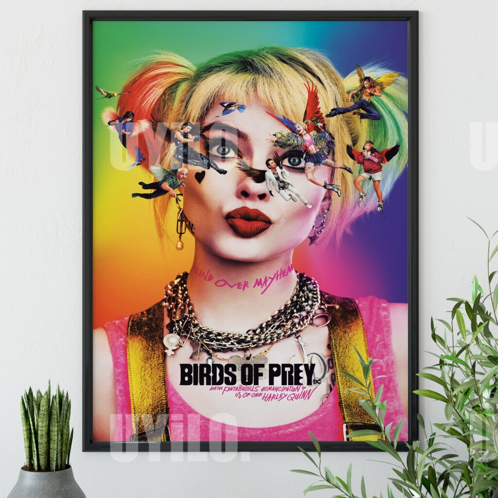 Birds Of Prey And The Fantabulous Emancipation Of One Harley Quinn 2020 Poster Movie Poster Print Movie Poster Print Instant Download